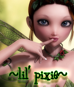 Lil Pixie For Dolly (G2F) 3D Figure Assets -dragonfly3d-