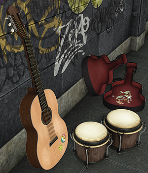 Urban Jungle_Street Performers 3D Models coflek-gnorg