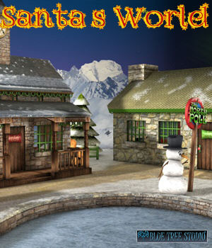 Santa's World 3D Models BlueTreeStudio