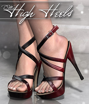 DMs High Heels 3D Figure Assets DM