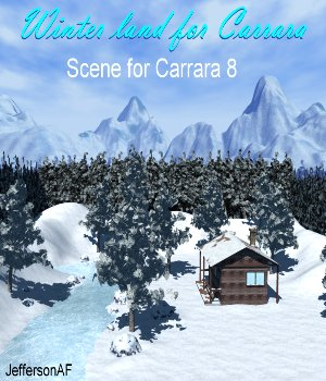 Winter land for Carrara 3D Models JeffersonAF