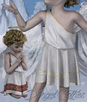 Angel Clothes for the Kids 4 3D Figure Assets Tipol