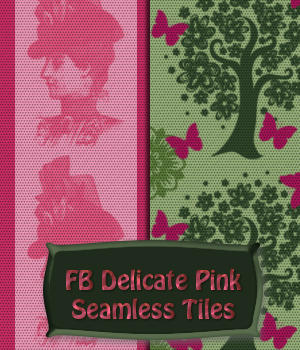FB Delicate Pink Seamless Tiles / Merchant Resource by fictionalbookshelf