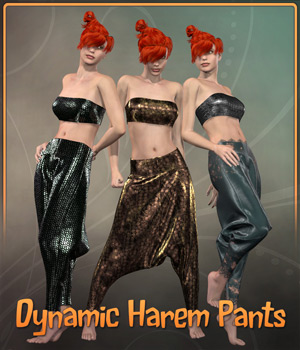 Dynamic Harem Pants 3D Figure Assets Frequency