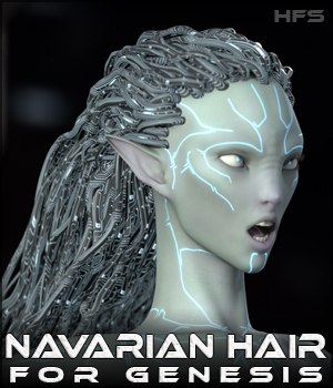 HFS Races: Navarian Hair 3D Figure Essentials DarioFish