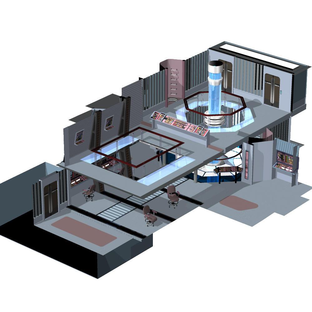 Starship Engineering Room 3 For Poser 3d Models