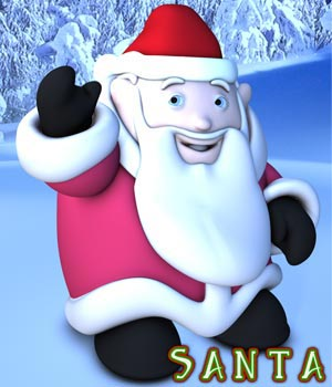 S1M Santa 3D Figure Essentials 3D Models sixus1