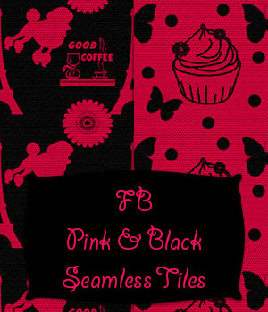 FB Pink And Black Seamless Tiles / Merchant Resource by fictionalbookshelf
