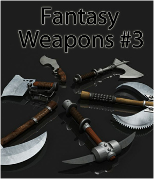 Fantasy Weapons Pack 3 3D Figure Essentials 3D Models RPublishing