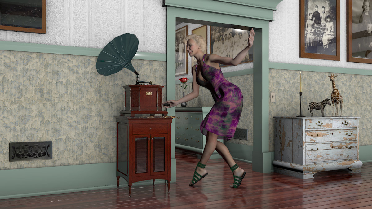 Country Home Victrola & CabinetbyDreamlandModels()