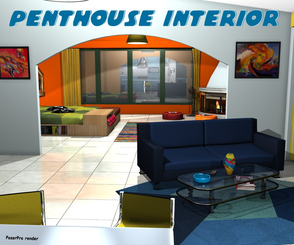 Penthouse interior - Extended License