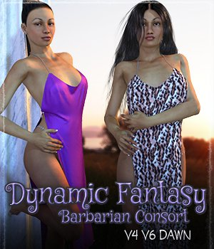 Dynamic Fantasy: Barbarian Consort 3D Figure Essentials Grappo2000