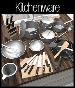 Everyday items, Kitchenware 3D Models 2nd_World