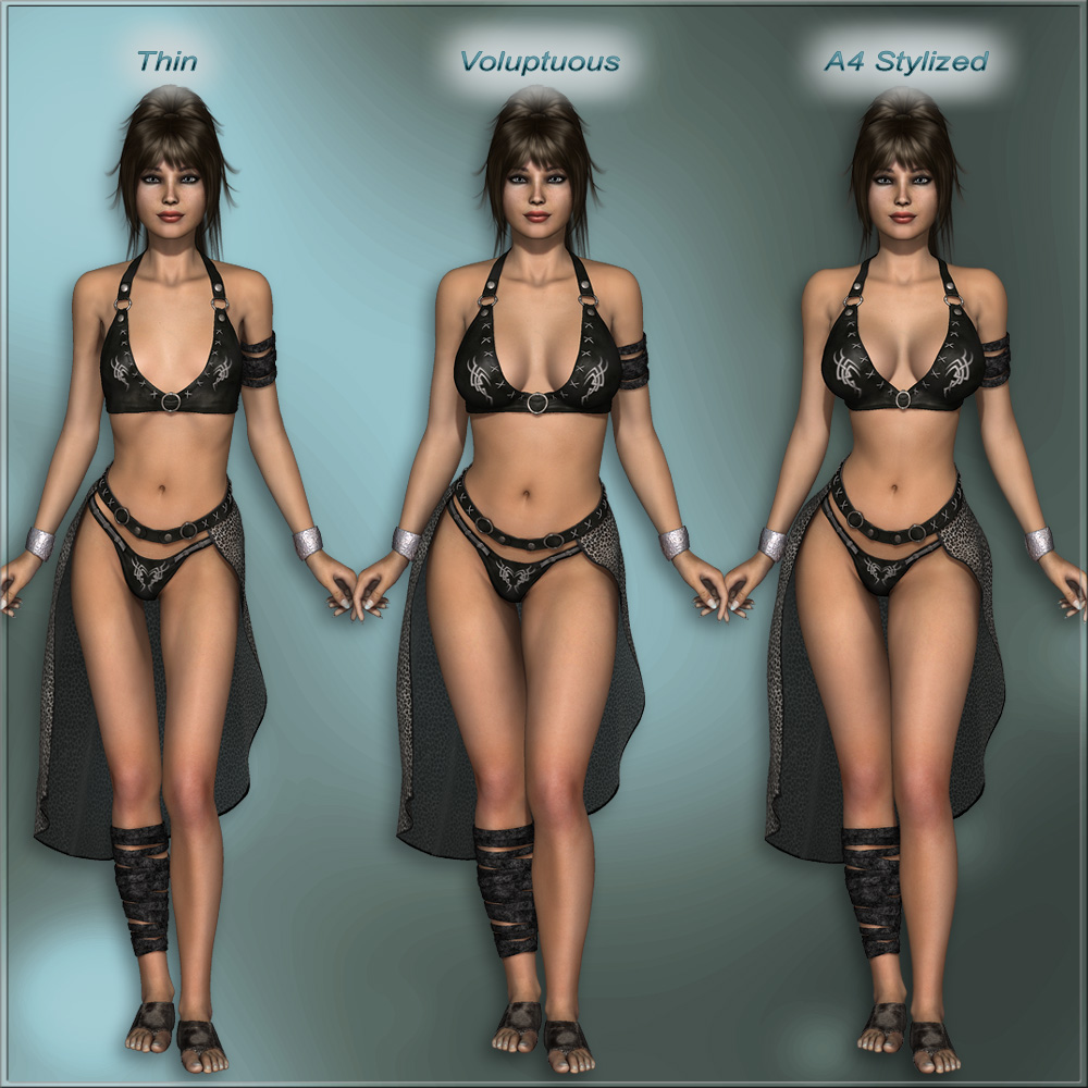 Sexy Fantasy Outfit For V4 3D Figure Assets Rpublishing-8538