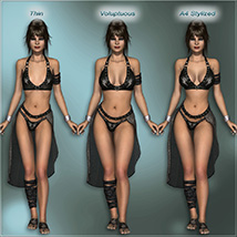 Sexy Fantasy Outfit for V4 image 5
