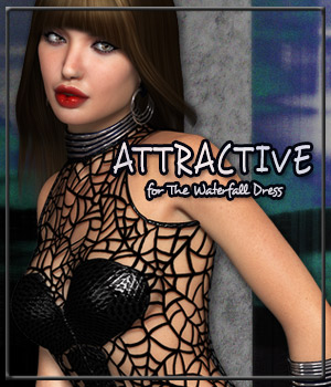 ATTRACTIVE for The Waterfall Dress 3D Figure Essentials Gaming Anagord