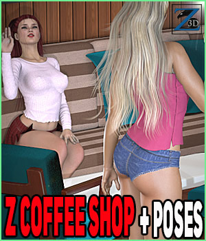 Z Coffee Shop + Poses 3D Models Zeddicuss