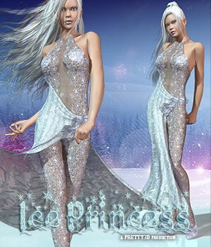 Ice Princess 3D Figure Assets Pretty3D