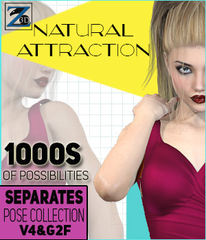 Z Natural Attraction - Separates Collection - V4-G2F 3D Figure Assets Zeddicuss
