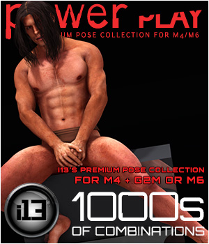 i13 Power Play pose collection for M4/G2M 3D Figure Assets ironman13