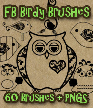 FB Birdy Brushes 2D Graphics Merchant Resources fictionalbookshelf