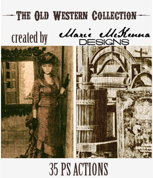 PS Actions - The Old Western Collection 2D Graphics MarieMcKennaDesigns
