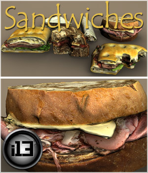 i13 Sandwiches 3D Models ironman13