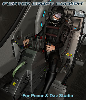 Scifi Fighter Craft Cockpit  Simon-3D