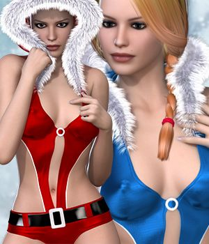 Christmas Mini Sleeveless for V4A4G4Elite 3D Figure Assets RainbowLight