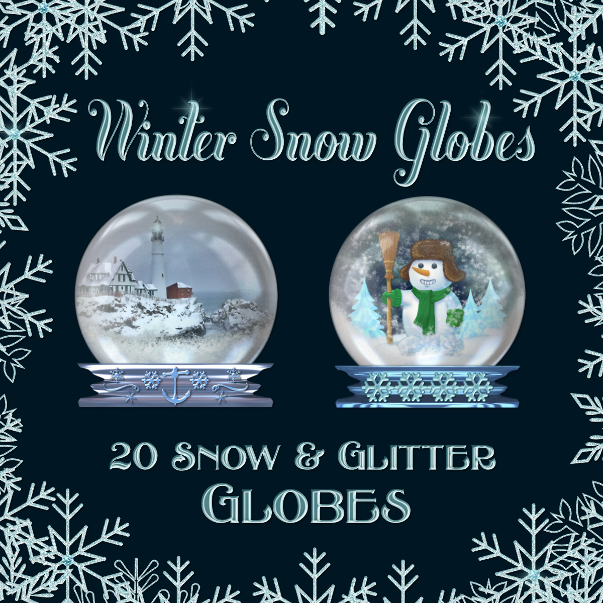 Winter Snow Globes Collection