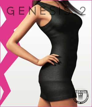 Fashion Blizz - One Shoulder Dress for Genesis 2 Female(s)