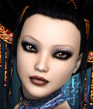 SublimeRebel Jiao for V4 3D Figure Assets 3DSublimeProductions
