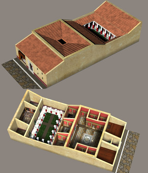 ROMAN PATRICIAN HOUSE 3D Models Nationale7