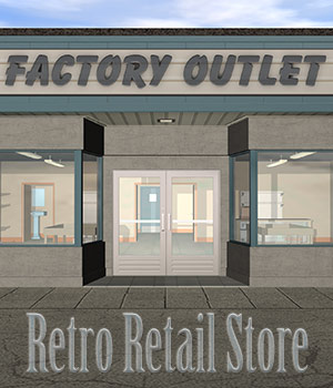 The Retro Retail Store 3D Models Richabri