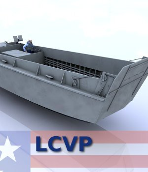 LCVP - Landing Craft, Vehicle, Personnel 3D Models AliceFromLake