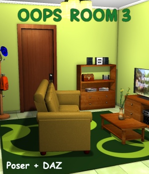 Oops Room3 - Extended License 3D Models Gaming greenpots