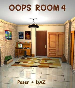 Oops Room4 - Extended License 3D Models Gaming greenpots