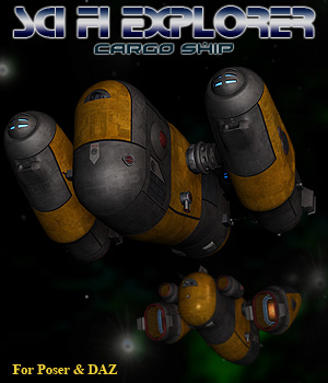 Sci Fi Explorer Cargo Ship 3D Models Simon-3D
