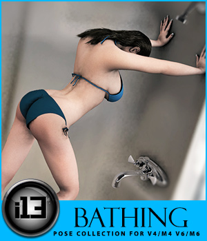 i13 BATHING for V4-M4-V6-M6 3D Figure Assets ironman13