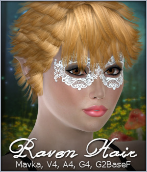 Raven Hair 3D Figure Essentials -Wolfie-