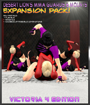 MMA Mounts & Guards Expansion Pack - V4 Edition 3D Figure Assets Desert_Lion