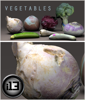 i13 Vegetables 3D Models ironman13