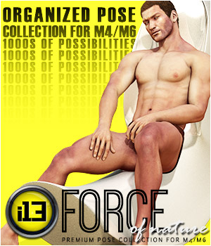 i13 FORCE of nature pose collection for M4/G2M 3D Figure Assets ironman13
