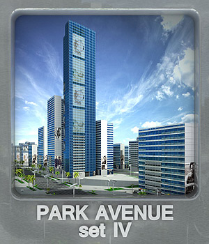 Park Avenue set IV 3D Models whitemagus
