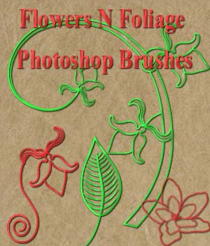 FB Flowers N Foliage Photoshop CC Brushes 2D Merchant Resources fictionalbookshelf