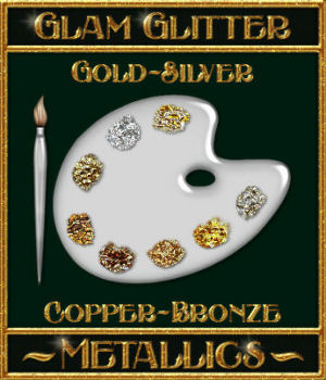 BLING! GLAMOUR GLITTER-Metallics 2D Graphics Merchant Resources fractalartist01