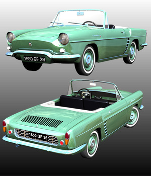 RENAULT FLORIDE 1958 3D Models Nationale7