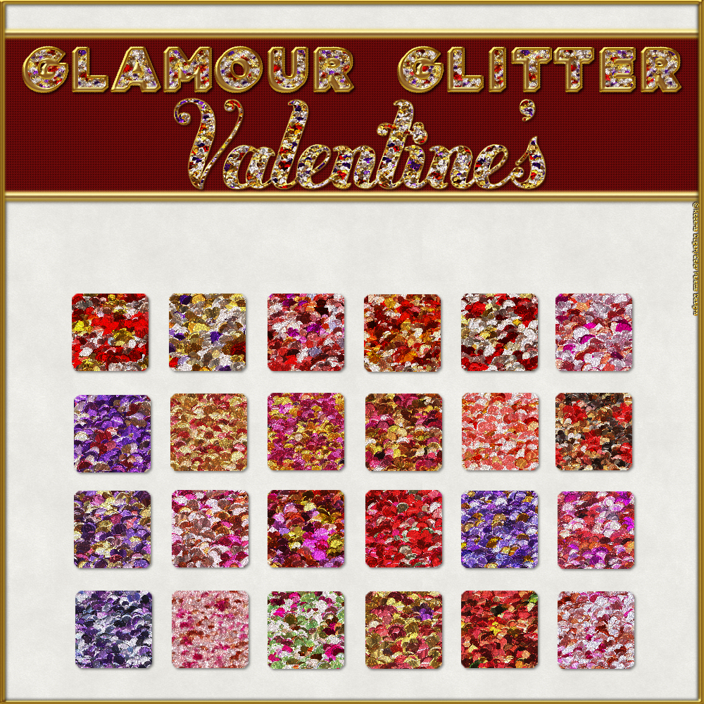 BLING! GLAMOUR GLITTER-Valentine's Layer Styles