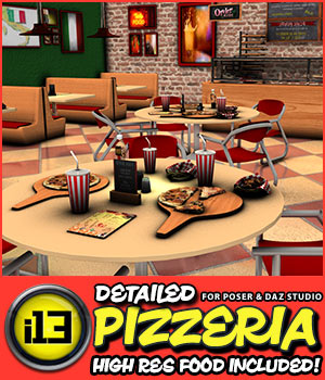 i13 Pizzeria 3D Models ironman13