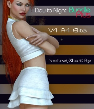 Day to Night Bundle Plus - V4-A4-Elite & Small Lovely XI 3D Figure Assets nirvy